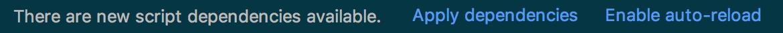 Reload script dependencies